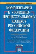Постатейный комментарий к Уголовно-процессуальному кодексу РФ: на 15.08.04