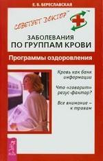 Заболевания по группам крови. Программы оздоровления