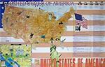 Карта США на английском языке