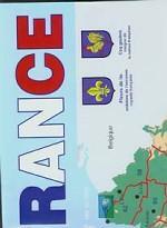 Карта Франции на французском языке
