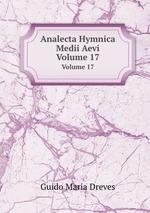 Обложка книги Analecta Hymnica Medii Aevi
