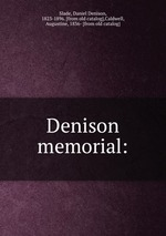 Denison memorial: