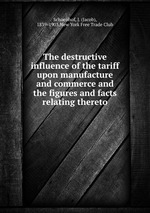 The destructive influence of the tariff upon manufacture and commerce and the figures and facts relating thereto