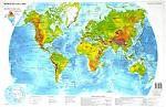 Государства мира. Физическая карта мира. Двусторонняя карта