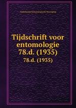 Tijdschrift voor entomologie. 78.d. (1935)