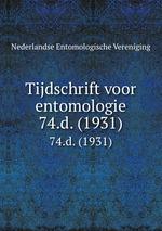 Tijdschrift voor entomologie. 74.d. (1931)