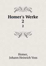Обложка книги Homer`s Werke. 2