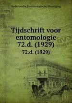 Tijdschrift voor entomologie. 72.d. (1929)