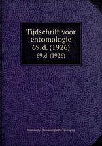 Tijdschrift voor entomologie. 69.d. (1926)