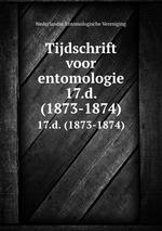 Tijdschrift voor entomologie. 17.d. (1873-1874)