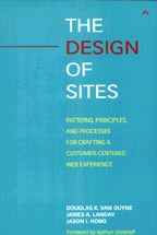 Обложка книги The Design of Sites: Patterns, Principles, and Processes for Crafting a Customer-Centered Web Experience
