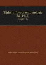 Tijdschrift voor entomologie. 58 (1915)