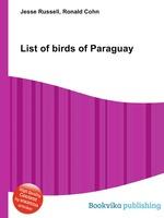 List of birds of Paraguay