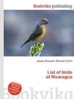 List of birds of Nicaragua