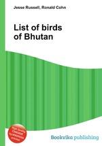 List of birds of Bhutan
