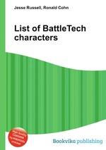 List of BattleTech characters