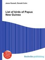 List of birds of Papua New Guinea