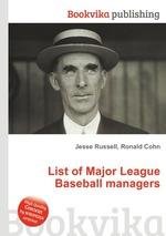 List of Major League Baseball managers