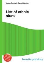 List of ethnic slurs