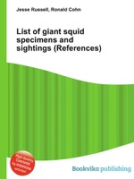 List of giant squid specimens and sightings (References)