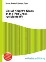 List of Knight`s Cross of the Iron Cross recipients (F)