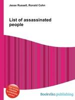 List of assassinated people