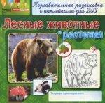 Скачать Раскраски с наклейками. Лесные животные и растения бесплатно