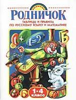 Родничок. 1-4 класс. Таблицы и правила по русскому языку и математике