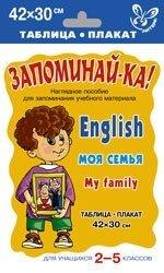 English. Моя семья. My Family. Наглядное пособие для запоминания учебного материала для учащихся 2-5 классов