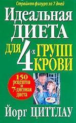 Обложка книги Идеальная диета для 4 групп крови