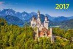 """""""Замок в горах"""". Настенный трехблочный квартальный календарь с курсором в индивидуальной упаковке (Европакет)"""