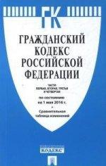 Гражданский кодекс Российской Федерации. Части первая, вторая, третья и четвертая по состоянию 1 мая 2016 года (+ сравнительная таблица изменений)