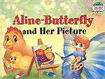 Бабочка Алина и ее картина. Aline-Butterfly and Her Picture. (на англ яз) 1 уровень