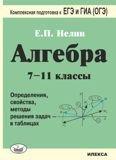 Алгебра 7-11кл Опред., св-ва, мет. решен. задач
