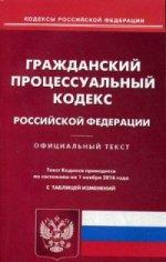ГПК РФ (по сост. на 01.11.2016 г.)