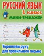 Русский язык.1 класс.Укрепляем руку для правильного письма (6+)