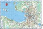 Санкт-Петербург. Настенная карта, ламинированная