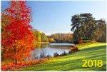 """""""Краски осени"""". Настенный трехблочный квартальный календарь на 2018 год с курсором в индивидуальной упаковке (Европакет)"""