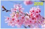 """""""Весенний цвет"""". Настенный трехблочный квартальный календарь на 2018 год с курсором в индивидуальной упаковке (Европакет)"""