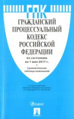 Гражданский процессуальный кодекс РФ на 01.05.17
