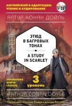 Этюд в багровых тонах = A Study in Scarlet (+компакт-диск MP3). 3-й уровень