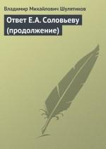 Ответ Е.А. Соловьеву (продолжение)