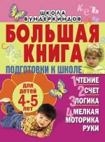 Большая книга подготовки к школе для детей 4-5 лет. Чтение, счет, логика, мелкая моторика руки
