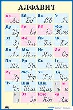 Алфавит. Печатные и рукописные буквы. Наглядное пособие для начальной школы. (Большой формат)