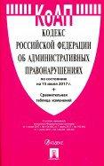 Кодекс об администр.правонарушениях РФ на 15.07.17