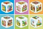 Домашние животные. Развивающий пазл-кубик со стихами. В индивидуальной упаковке с подвесом. 6 элементов