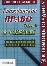 Гражданское право России. Часть 1. Конспект лекций в схемах