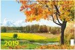 """""""Золотая осень"""". Настенный трехблочный квартальный календарь на 2019 год с курсором в индивидуальной упаковке (Европакет)"""