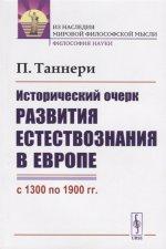Исторический очерк развития естествознания в Европе (с 1300 по 1900 гг.). Пер. с фр