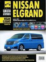 Nissan Elgrand прав.руль c 2002 г., бенз. дв. 2.5; 3.5; ч/б фото, рук. по рем. Школа Авторемонта